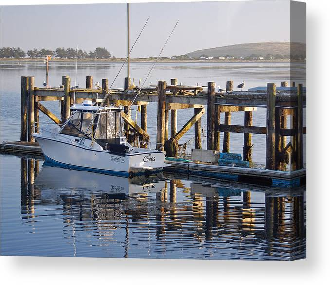 Boat Canvas Print featuring the photograph Chaos near Bodega Bay by Suzanne Gaff
