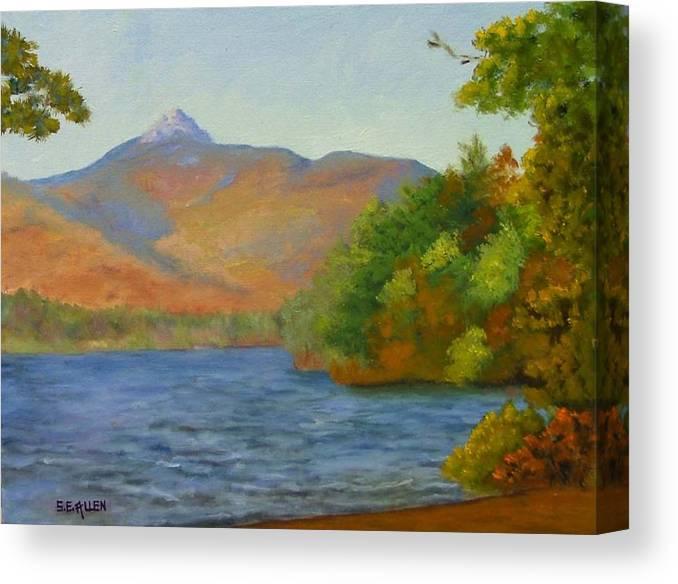 Mount Chocorua And Chocorua Lake Canvas Print featuring the painting Chocorua by Sharon E Allen