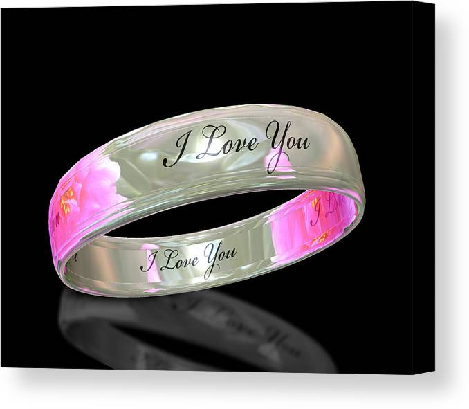 Ring Canvas Print featuring the digital art Circle Of Love by Cecil Fuselier