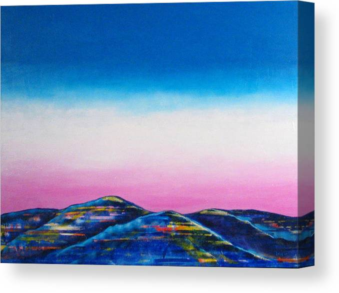Sky Canvas Print featuring the painting Clear Day by Rollin Kocsis
