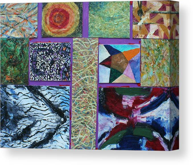Abstract Images Collage Canvas Print featuring the painting Collage with clown by Biagio Civale