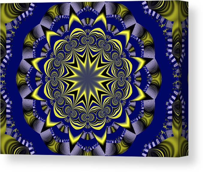 Fractal Poster Canvas Print featuring the digital art Digital Fractal Poster by David Smith