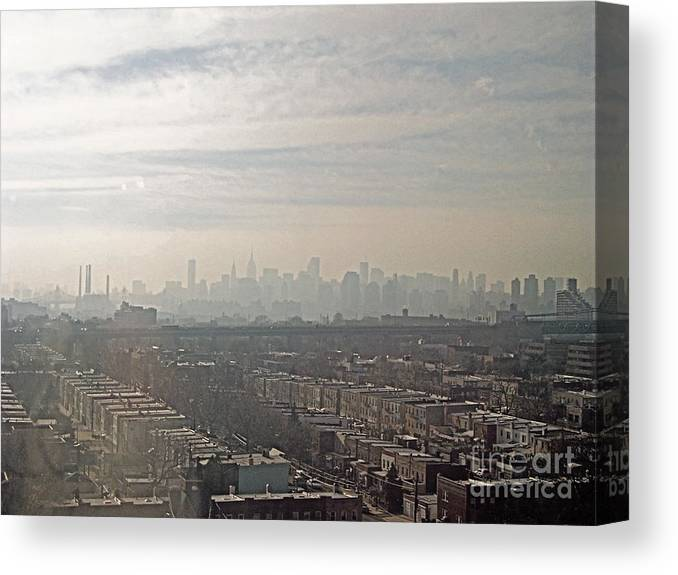 Brooklyn Canvas Print featuring the photograph Distant City by Paulette B Wright