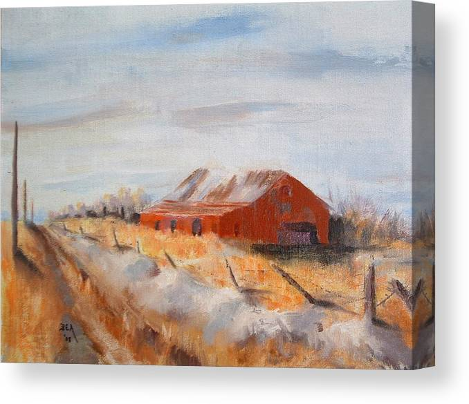 Landscape Canvas Print featuring the painting Entering Choteau County by Bryan Alexander