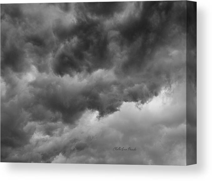 Clouds Canvas Print featuring the photograph Faces In The Mist Of Chaos by ChelleAnne Paradis