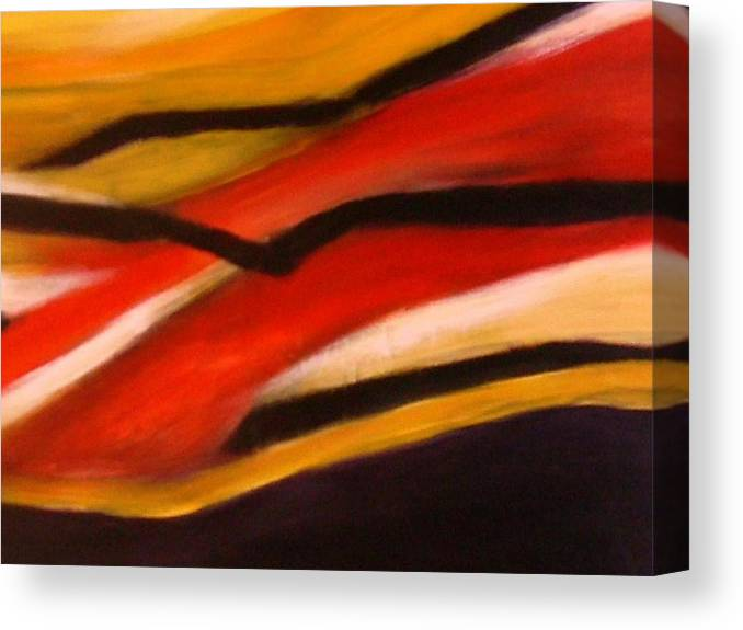 Abstract Color Canvas Print featuring the painting Flight3 by Joseph Ferguson