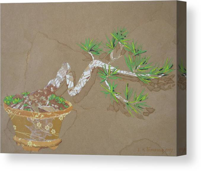Banzai Tree Canvas Print featuring the painting For Inge by Leah Tomaino