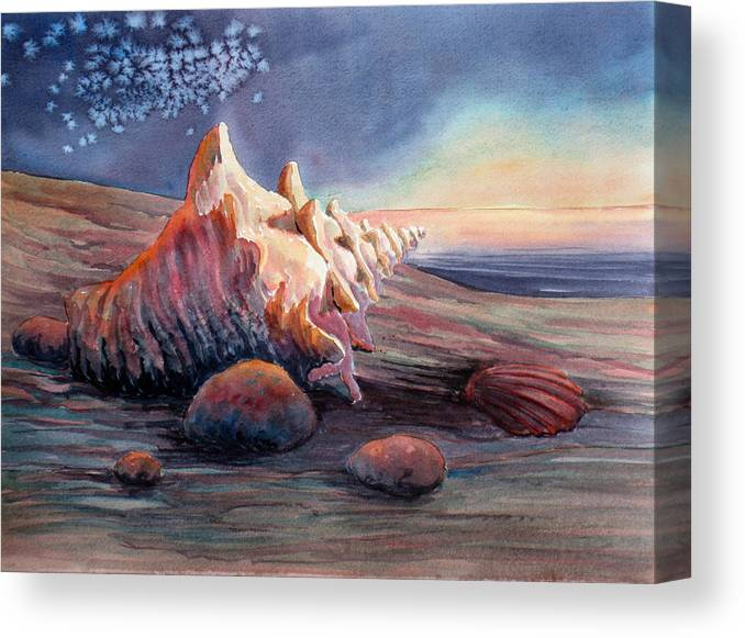 Seashell Canvas Print featuring the painting From Another World by Don Trout