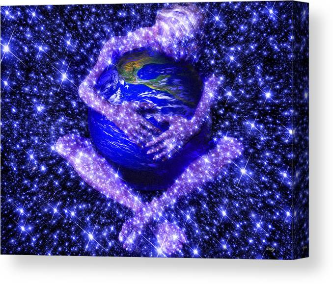 Gaia Canvas Print featuring the painting Gaia's Love by Robby Donaghey