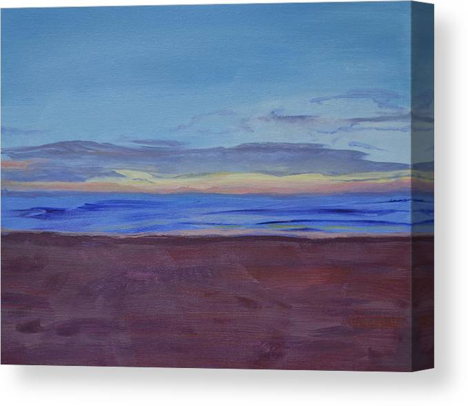 Beach Canvas Print featuring the painting Graham's Beach by Mary Chant