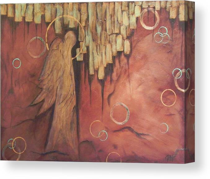 Angel Canvas Print featuring the painting Guardian by Patti Spires Hamilton