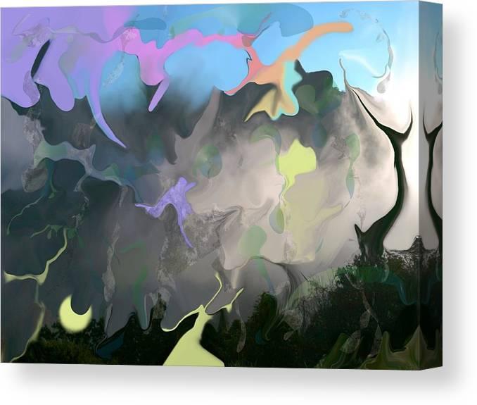 Mist Canvas Print featuring the digital art Haper's Ferry Spirits by Peter Shor