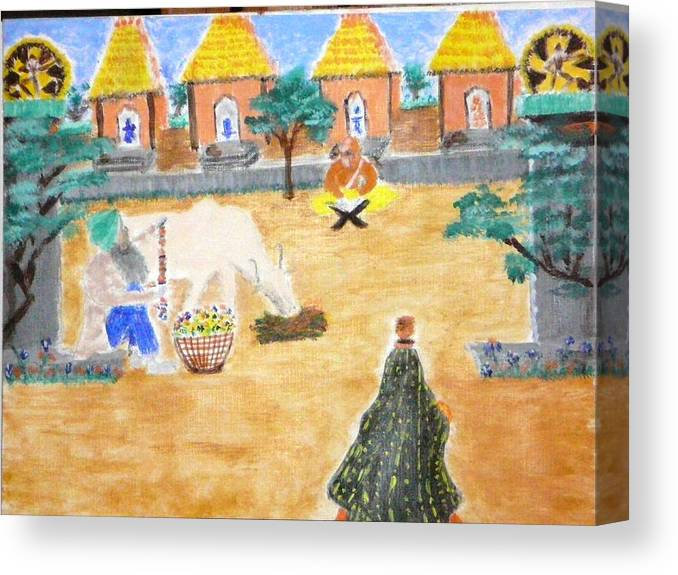 Canvas Print featuring the painting Harmony by R B