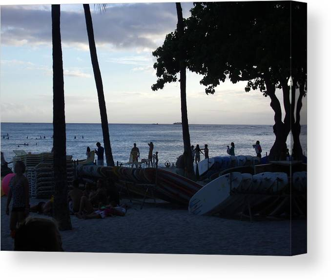Hawaii Canvas Print featuring the photograph Hawaiian Afternoon by Daniel Sauceda