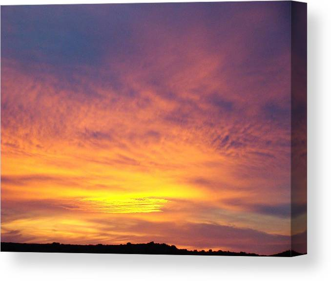 Landscape Canvas Print featuring the photograph Ice Cream Sunset Two by Ana Villaronga