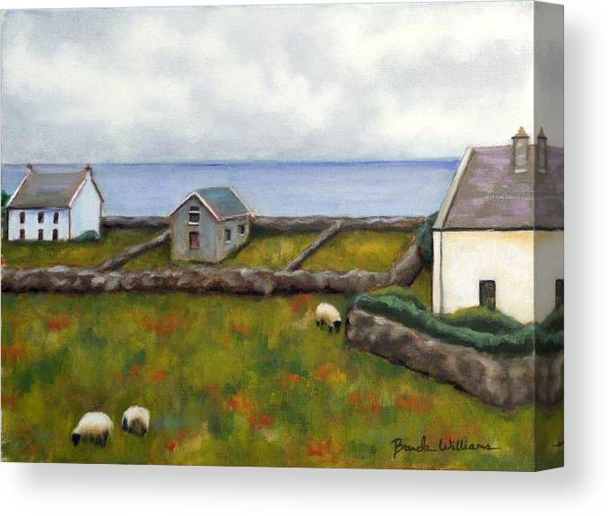 Oil Canvas Print featuring the painting Inishmore Island by Brenda Williams