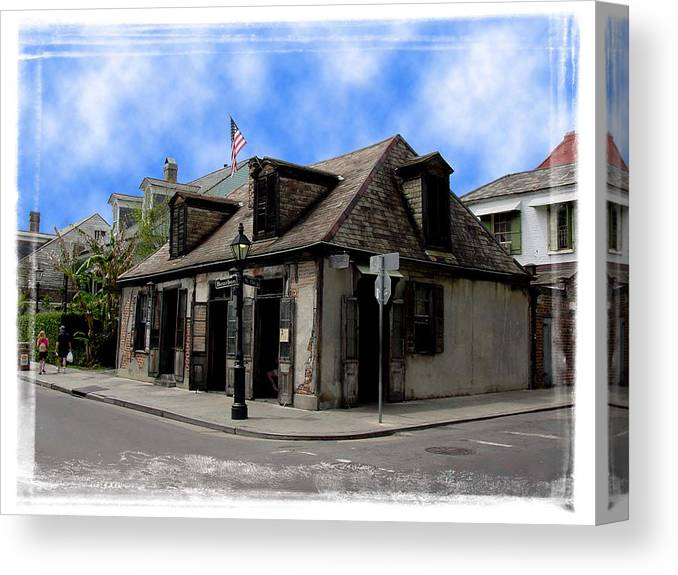 New Orleans Canvas Print featuring the photograph Jean Lafitte The Blacksmith by Linda Kish