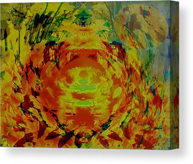 Flowers Canvas Print featuring the digital art Just Flowers by Helmut Rottler
