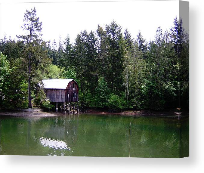 Water Canvas Print featuring the photograph Lakebay Green Water by Valerie Josi