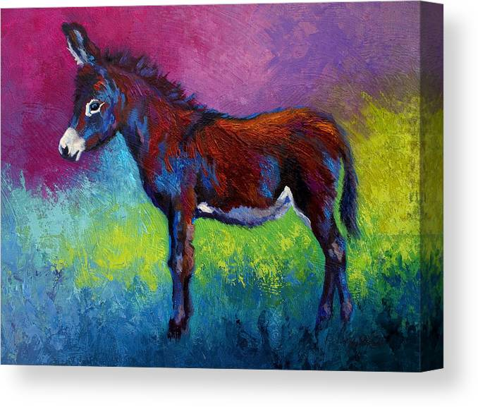 Burro Canvas Print featuring the painting Little Jenny by Marion Rose
