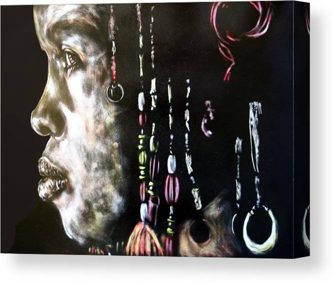 Portrait Canvas Print featuring the mixed media Lyric by Chester Elmore