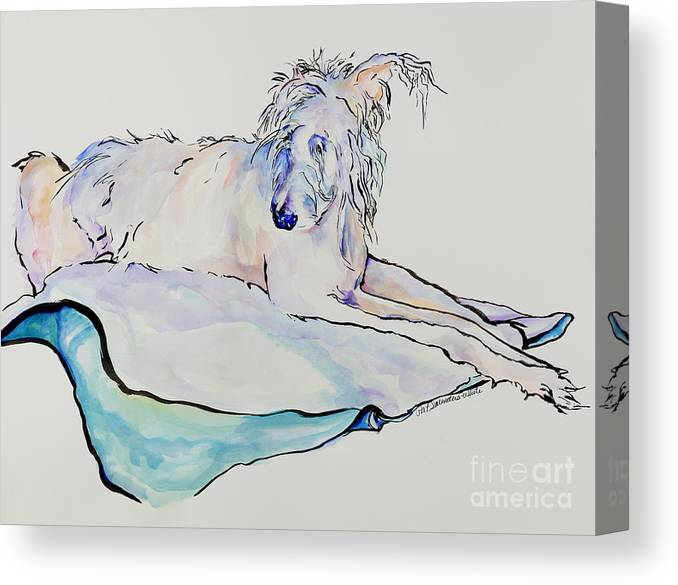 Animal Portrait Canvas Print featuring the painting Maevis by Pat Saunders-White