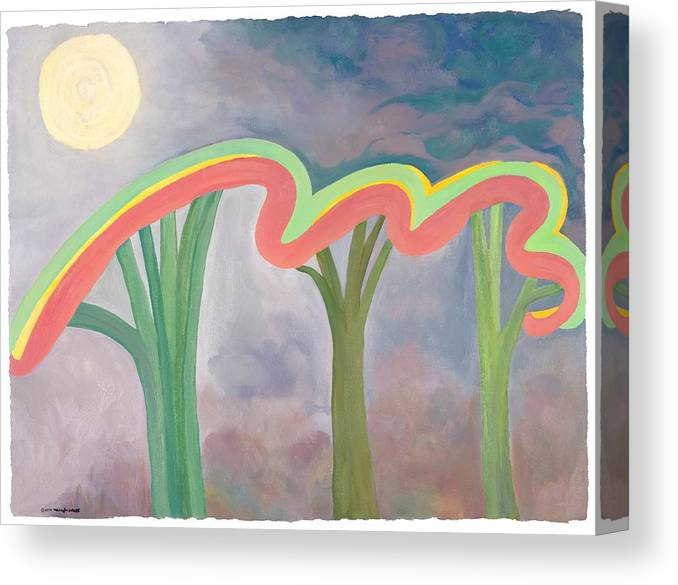 Mercy Canvas Print featuring the painting Mercy Nights by Nancy Brockett