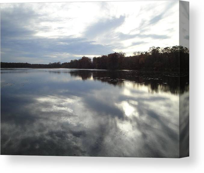 Autumn Landscape Canvas Print featuring the photograph Nature's Expression-14 by Leonard Holland