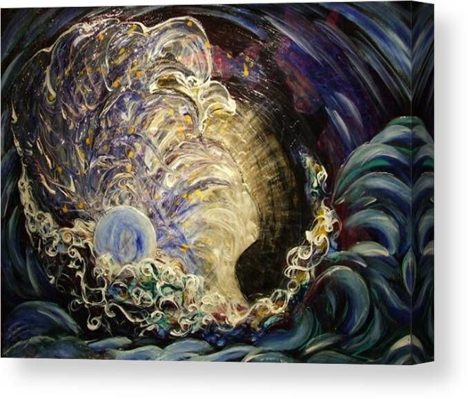 Woman Canvas Print featuring the painting Radiant Light by Pam Ellis
