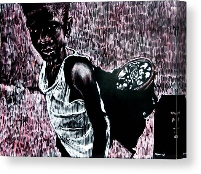 Portrait Canvas Print featuring the mixed media Reflection by Chester Elmore