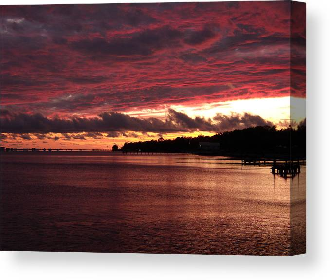 Sunset Canvas Print featuring the photograph Rose Colored World by Nicole I Hamilton
