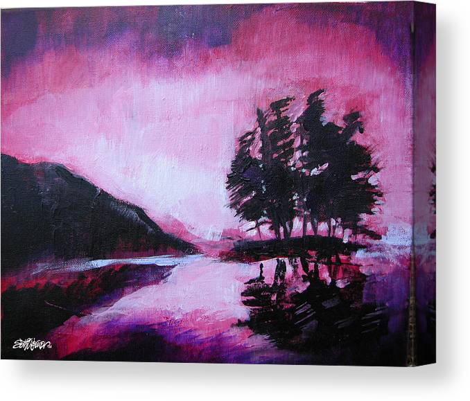 Ruby Dawn Canvas Print featuring the painting Ruby Dawn by Seth Weaver