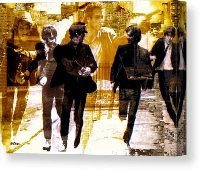 Beatles Canvas Print featuring the photograph Running Under the Gun by Seth Weaver