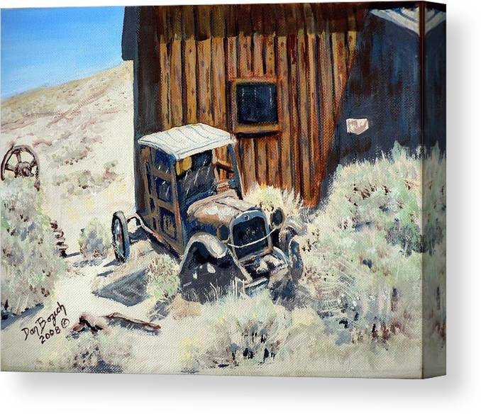 Old Dodge Bros. Truck; Berlin Canvas Print featuring the painting Rust in Peace by Dan Bozich