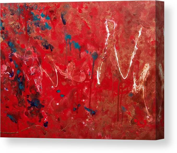 Abstract Canvas Print featuring the painting Samuel by Jess Thorsen