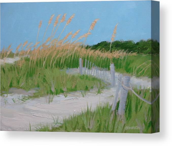 Sane Dunes Canvas Print featuring the painting SAND DUNES No. 3 by Robert Rohrich