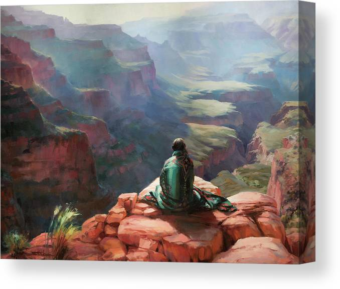 Southwest Canvas Print featuring the painting Serenity by Steve Henderson