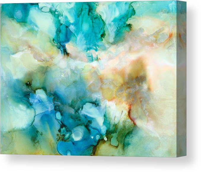 Abstract Canvas Print featuring the painting Soul Searching - C - by Sandy Sandy