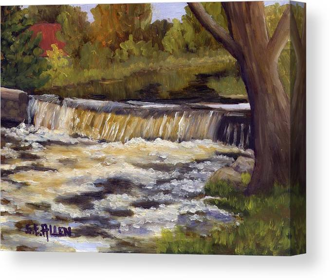 Water Canvas Print featuring the painting Spring Flow by Sharon E Allen