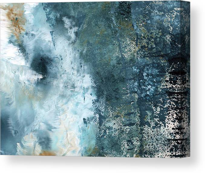 Abstract Canvas Print featuring the painting Summer Storm- Abstract Art By Linda Woods by Linda Woods