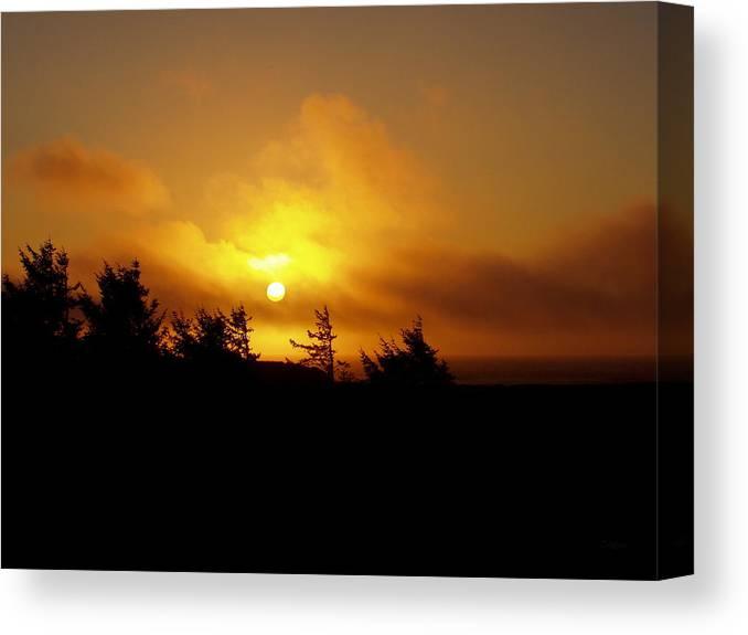 Sunset Canvas Print featuring the photograph Sunset by Deborah Crew-Johnson