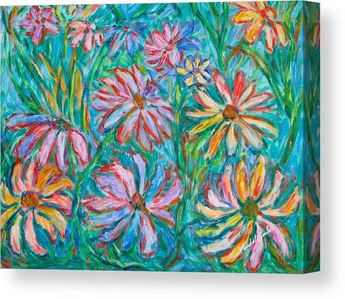 Impressionist Canvas Print featuring the painting Swirling Color by Kendall Kessler