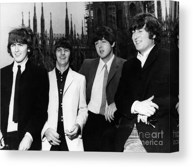 1960s Canvas Print featuring the photograph THE BEATLES, 1960s by Granger
