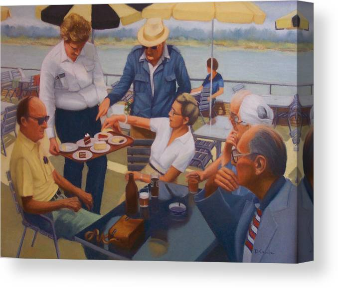 Rhine River Cruise Canvas Print featuring the painting The Boat Party by Diane Caudle