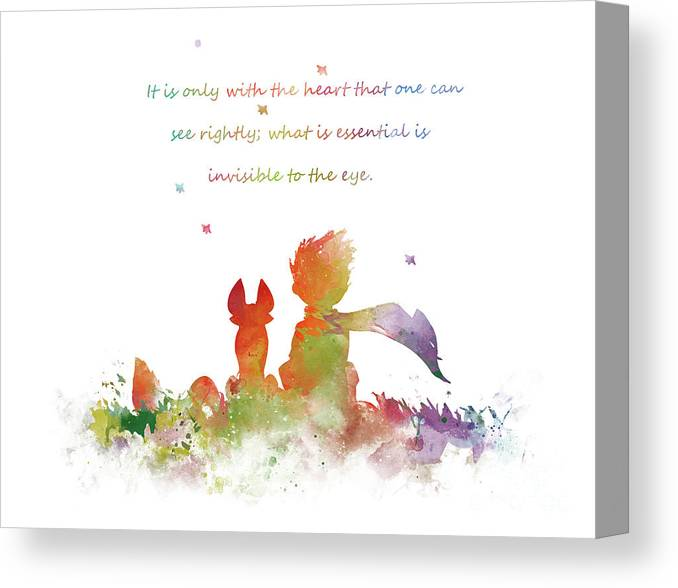 Little Prince Canvas Print featuring the mixed media The Little Prince by Monn Print