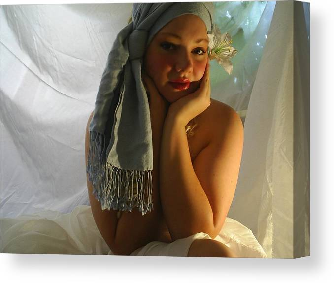 Face Canvas Print featuring the photograph The Maiden by Scarlett Royal