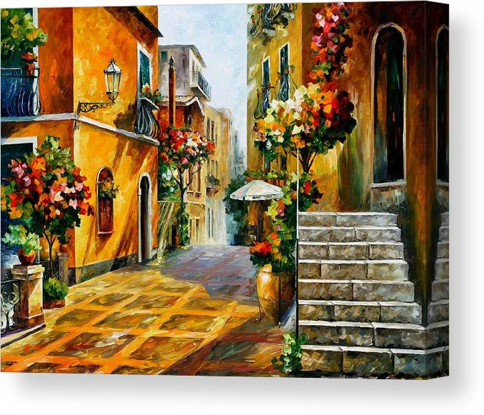 The Sun Of Sicily Palette Knife Oil Painting On Canvas By Leonid Afremov Canvas Print Canvas Art By Leonid Afremov