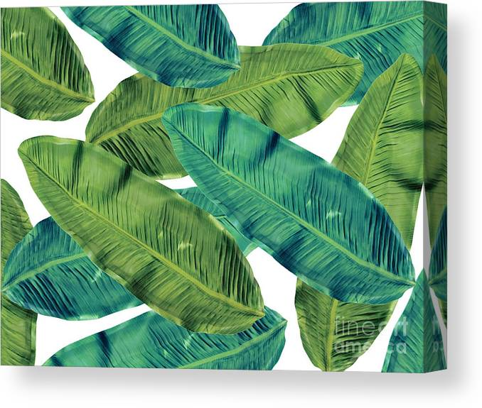 Summer Canvas Print featuring the digital art Tropical Colors 2 by Mark Ashkenazi