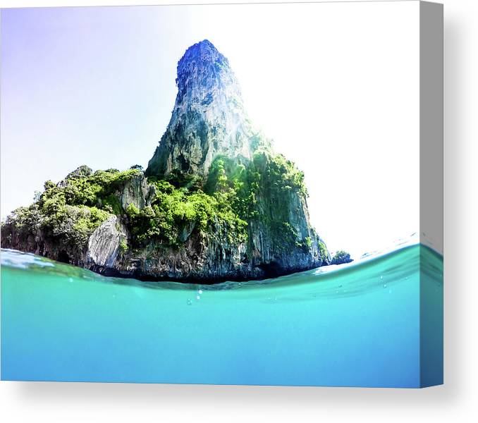 Nature Canvas Print featuring the photograph Tropical Island by Nicklas Gustafsson