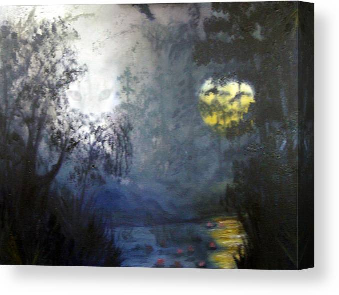 Swamp Canvas Print featuring the painting Where Are We To Go by Darlene Green